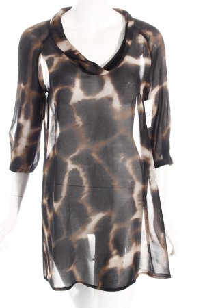 Minx by Eva Lutz Long-Bluse graubraun-schwarz Leomuster Safari-Look