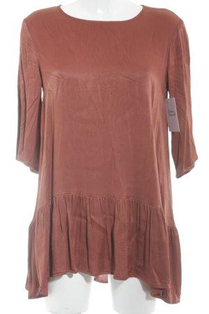 Minx by Eva Lutz Lang shirt roodbruin elegant