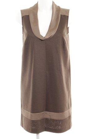 Minx by Eva Lutz Mini-jurk grijs-bruin klassieke stijl
