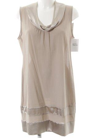 Minx by Eva Lutz schulterfreies Kleid graubraun klassischer Stil