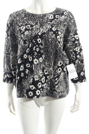 Minx by Eva Lutz Shirt zwart-wit ikat patroon straat-mode uitstraling