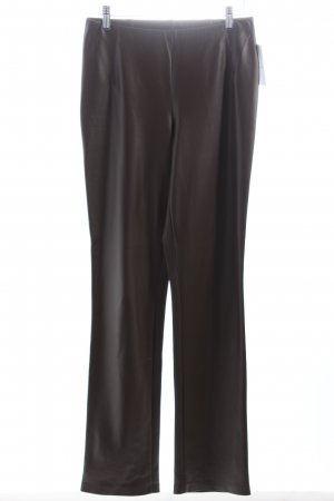 Minx by Eva Lutz Stretchhose dunkelbraun Leder-Optik