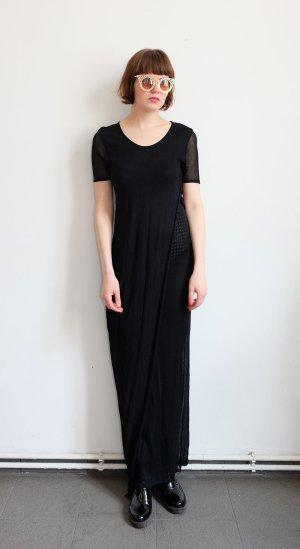 minx designerkleid maxikleid schwarz transparent S M