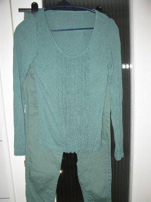 Minzfarbene Jeans+Oberteil Set, D36