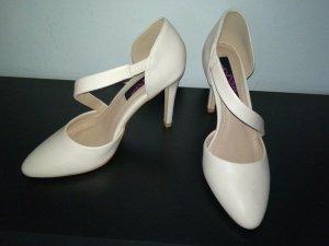 Mio Neue Nude Pumps Gr.37 elegant 10 cm Absatz UK 4 beige High Heels schlank Optik