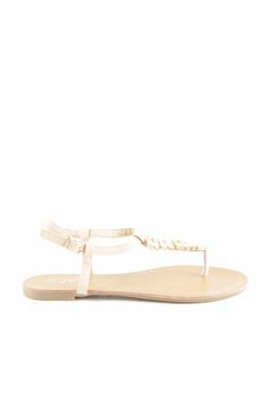 Mio Toe-Post sandals nude-pale yellow casual look