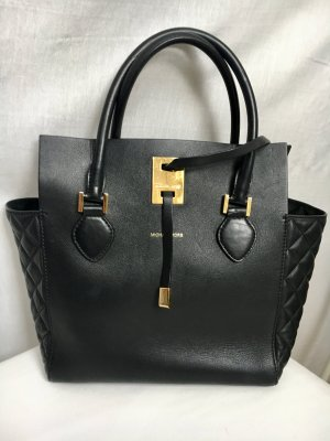 Miranda LG Tote W Quilted Gusset Black