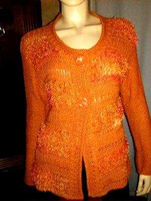 Mirasati Strickjacke- Gr.M/L- kaum getragen- orange Töne