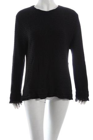 Miriam Pfeffer Wollpullover schwarz schlichter Stil