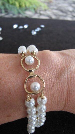 Misaki Bracelet gold-colored-white stainless steel