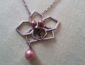 Misaki Halskette Kette Collier silber Perlen Orchidee QCRPORCHIDEE