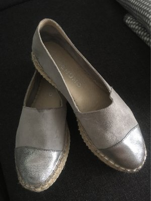 Mishumo Moccasins light grey-silver-colored leather