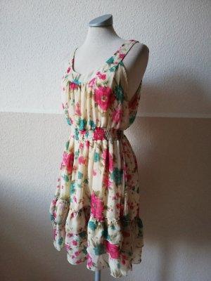 Vestido de chifón multicolor