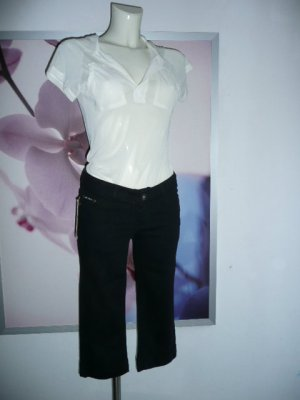 Miss Anna Capri Jeans Damen Stretch Jeans Hose Schwarz 36
