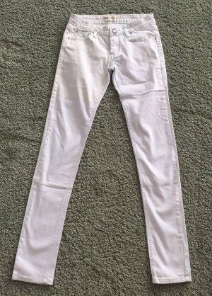 Miss Anna Hose weiß / hellblau Gr. 36-38 Strech Skinny Jeans Slimfit Sommer Strechjeans