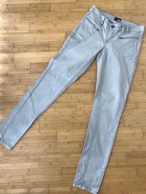 Jeans a sigaretta grigio chiaro Cotone