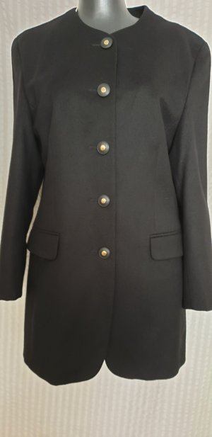 Veste longue noir laine vierge