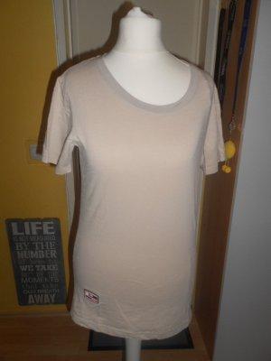 Miss Family - beiges T-Shirt mit opulentem Rückenmotiv Gr. S