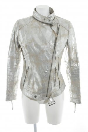 miss goodlife Bikerjacke silberfarben-goldfarben Biker-Look