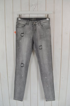 MISS GOODLIFE Damen Jeans Used Look Skinny Grau Stretch Gr. 26 Neu!