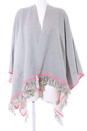 miss goodlife Poncho hellgrau-neonpink Casual-Look