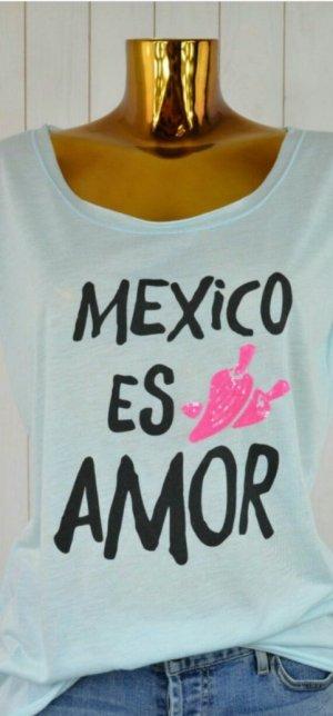 Miss Goodlife Shirt T-Shirt Pastell Neon Herz Mexico Mexiko M