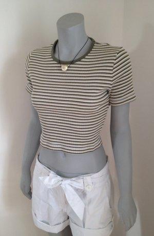 Miss H. Cropped Top Shirt T-Shirt Ringelshirt Gr. M