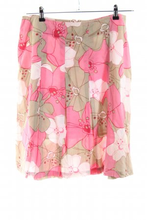 Miss H. Plaid Skirt flower pattern casual look