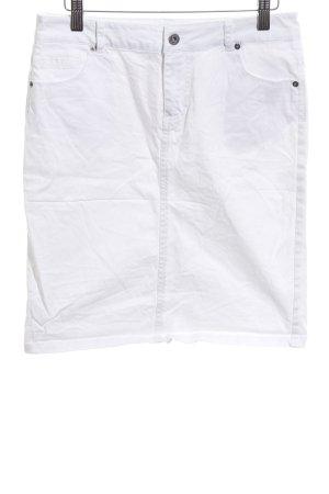 Miss H. Jupe en jeans blanc style décontracté