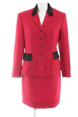 Miss H. Traje para mujer rojo-negro estilo «business»