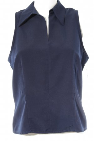 Miss H. Kurzarm-Bluse dunkelblau Casual-Look