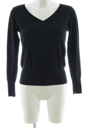 Miss H. V-Neck Sweater black business style