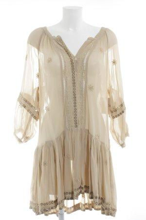 Miss June Strandkleid beige Blumenmuster Beach-Look