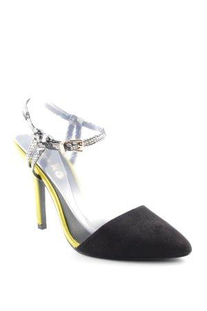 Miss kg High Heels schwarz-gelb Animalmuster Elegant