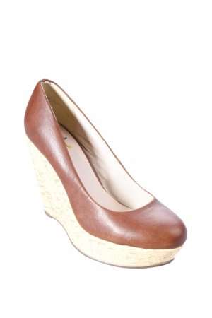 Miss kg Keil-Pumps braun-creme Casual-Look