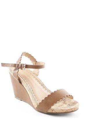 Miss kg Wedges Sandaletten cognac-braun Boho-Look