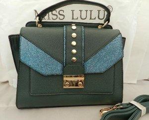 Miss Lulu Schulter-/Handtasche Grün-Blau