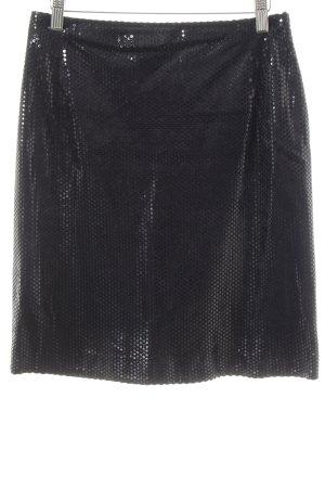 Miss mad Minirock schwarz Punktemuster Elegant