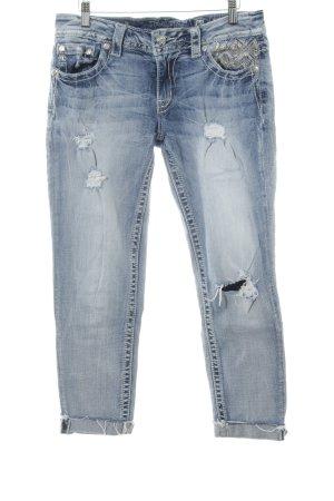 Miss Me Capribroek azuur Jeans-look