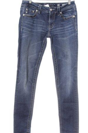 Miss Me Skinny Jeans blau extravaganter Stil