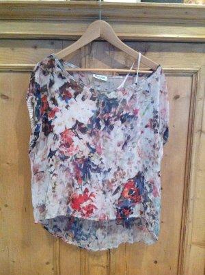 Miss Miss by Valentina Oversized blouse veelkleurig Gemengd weefsel