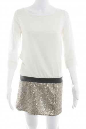 Miss Miss by Valentina Abito con paillettes color block stile casual