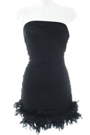 Miss Miss by Valentina Vestido de tubo negro estilo extravagante