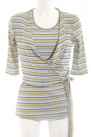 Miss Miss by Valentina Knitted Twin Set striped pattern casual look