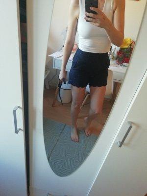 Pantalone corto blu neon-blu scuro