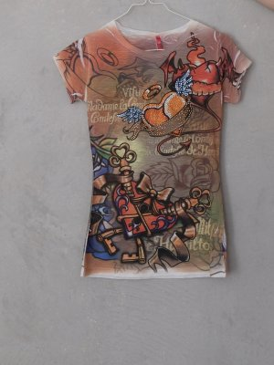 T-Shirt multicolored polyester