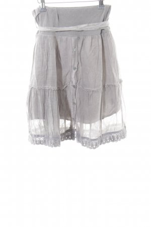Miss Republic Crash Skirt light grey transparent look