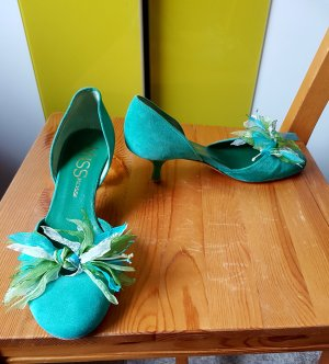 MISS ROSSI (by Sergio Rossi) grüne Pumps