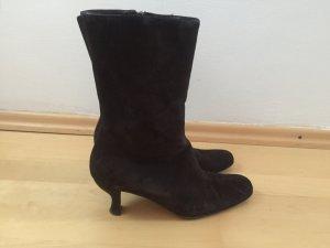 Scarpina di lana marrone scuro
