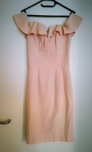 Miss Selfridge Vestido strapless rosa